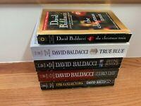 Lot of 5 David Baldacci Zero Day/True Blue/Divine Justice/Collectors/Christmas