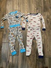 Boy's Tom & Jerry Fire Truck Firefighter Fall Winter Pajamas Lot size 4T 5T