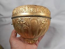 "Antique Brass Hanging Kerosene Oil Lamp 5"" Font Holder for Victorian Hanging Lmp"