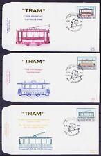 Tramways, Tram, Transport, Belgium 1983 Set of 3 FDC  (T3)