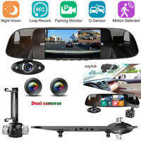 5 in HD 1080P Car Rear View Mirror DVR Camera Dash Cam Front Inside Back Anytek