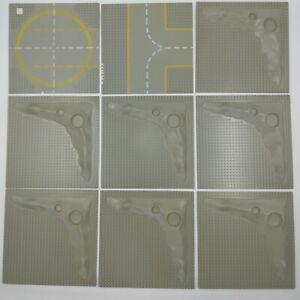 Vintage LEGO Job Lot Grey Base Plates Moon Crater x7 - x2 Road Base Plates 1978
