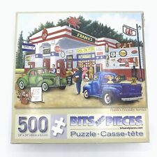 Bits And Pieces Jigsaw Puzzles 500 Piece Franks's Friendly Service Old Cars Gas