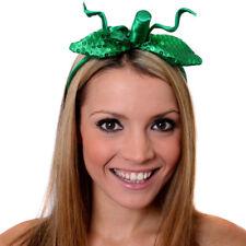 SEQUIN PUMPKIN HEADBAND GREEN HAIR BAND HALLOWEEN FANCY DRESS COSTUME ACCESSORY
