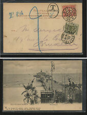 Netherlands  post card to  Belgium  postage due  1903         MS0222