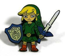 Nintendo ZELDA WITH SWORD & SHIELD #2 videogame pin 3 x 3 cm. VHTF
