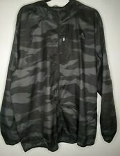 Adidas Mens XL Gray Camouflage Own the Run Windbreaker Jacket DQ2545 NWT
