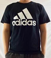 Adidas Men's Shirt The Go To Tee Shirt Logo Black White Cotton BU3646 S