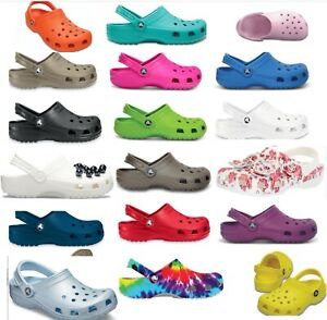 25 + colors, CROCS Original CLASSIC Clogs Shoes sandals sizes  2 -17, vegan