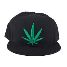 Leaf Marijuana 420 Baseball Hat Lux Accessories Black Green Weed
