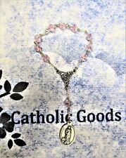 8 mm Pink Crystal Bi Cone beads - Saint St. Agatha's Chaplet