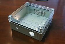 "Weatherproof Electrical NEMA 4 Enclosure Box Plastic Clear Lid 6 3/4""x6 3/4""x3"""