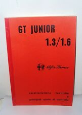 Manuale Tecnico di Officina per Alfa Romeo GT 1.3  1 6 workshop manual-