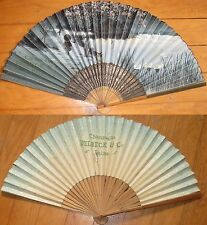 c. 1930 French Advertising Fan: 'Champagne Delbeck & Co., Reims' - Japan