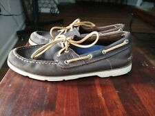 Sperry Top Sider Original A/O 2 Eye Men 7M Brown Leather Boat Sport Shoe
