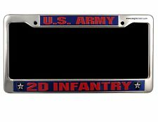 2ND INFANTRY DIVISION  Military License Plate Frame  U.S. ARMY