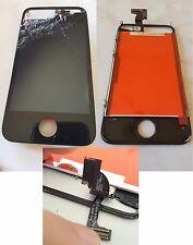 TOUCH SCREEN LCD RETINA FRAME PER IPHONE 4 4S ORIGINALE FUNZIONANTE VETRO ROTTO