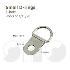 Small Single D-RINGS for Picture Framing Packs of 4/10/20 FREE UK P+P