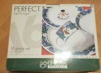 Oneida Frosty Friends 16 piece Dinner Ware Set New in Box Service for 4 people!