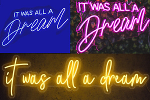 60c, 80cm or 100cm It was all a dream LED neon sign bar light home wall lighting