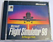 Microsoft Flight Simulator '98 PC Game CD-ROM in Jewel Case with Artwork