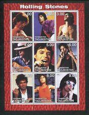 Tajikistan Commémorative Souvenir Timbre Feuille - Rock Band Rolling Stones