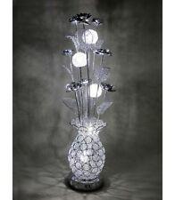 Carmen Silver Wire Metal Short Table Desk LED Lamp Light Floral Flower Modern