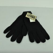 American Crown Adult Black Gloves Crochet One Size Acrylic Cold Winter