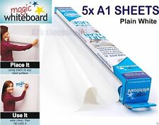 5X A1 SHEETS MAGIC WHITEBOARD ON WALL DRY WIPE REUSABLE STICKER ROLL STICK