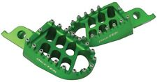 BIKETEK MX OFF ROAD FORGED FOOTPEGS TO FIT KAWASAKI  KX 250/450 F IN GREEN