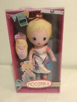 "NIB Ina Mooshka 13-14"" Plush Doll w Finger Puppet Dolly- Zapf Creations"