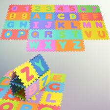 Tappeto 36 Pezzi Puzzle Con Lettere e Numeri In Gomma Per Camera Bambini Forme