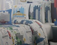 2 pc Max Studio Kids The City Twin Quilt and Sham Set Nip