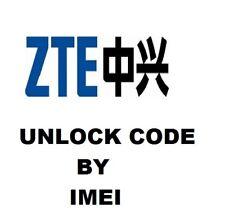 Unlock Code Vodafone UK only Prime7 Utra6 Smart E8 V8 N8 VFD 510 511 600 710 ZTE