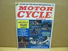 Vintage Motor Cycle World Magazine Nov 1967 Harley BSA Kawasaki Guzzi Lambretta