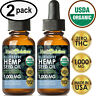 BLUEBERRY Hemp Oil Drops for Pain Relief, Stress, Anxiety, Sleep - (2 PACK)