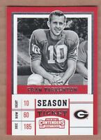 Fran Tarkenton 2017 Panini Contenders Draft Picks #38 Georgia/Vikings MINT