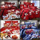 queen king size Christmas Cotton Bed Quilt duvet Doona Cover Set Santa Claus!