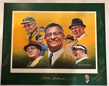 Autographed 16x20 Lombardi print SIGNED by Hornung Wood Adderley Robinson +++