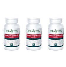 RISO ROSSO FERMENTATO Erba Vita 60 Capsule 3 CONFEZIONI Controllo colesterolo