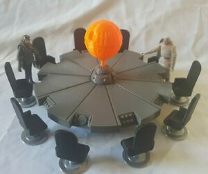 For 3.75inch Star Wars figures.10 seat Yavin IV Conference table and 10 seats