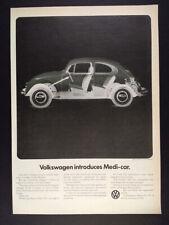 1970 VW Volkswagen Beetle x-ray photo vintage print Ad