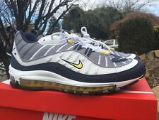 Men's Nike Air Max 98 OG White Tour Yellow 640744-105 sz 10