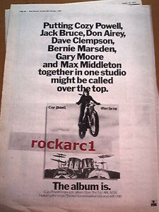 COZY POWELL Over The Top 1979 UK Poster size Press ADVERT 16x12 inches