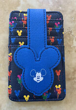 Disney Themed Cardholder (Mickey Mouse Multicolored Balloon) - Nwt