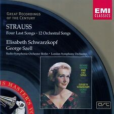 STRAUSS: VIER LETZTE LIEDER U.A. - SCHWARZKOPF, SZELL / CD