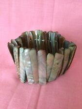Stunning Iridescent Abelone Shell Bracelet Fashion Jewellery