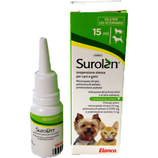 Surolan 15 ml Elanco ear drops and cutaneos suspension for Dogs and Cats