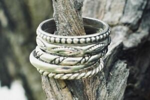 Silpada Sterling Silver SET OF 5 Stackable Band Rings R0593  Size 7