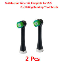 2x OTRB-3WB Replace Brush Heads for Waterpik Complete Care 5.5 Toothbrush(Black)